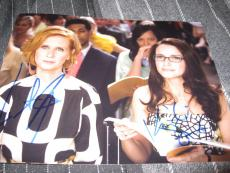 KRISTIN DAVIS CYNTHIA NIXON SIGNED AUTOGRAPH 8x10 PHOTO SEX AND THE CITY