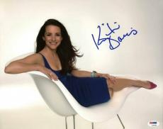 Kristin Davis Sex And The City Signed 11x14 Photo Psa/dna #l33635