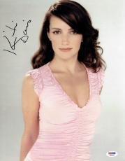 Kristin Davis Signed Sex and The City Authentic 11x14 Photo (PSA/DNA) #S23225