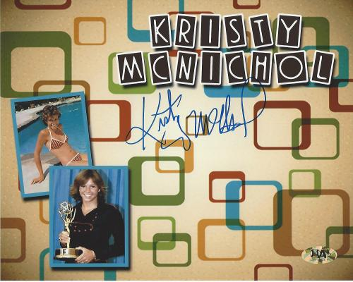 """KRISTY MCNICHOL - Well Known for Her Roles in """"LITTLE DARLINGS"""" and """"ONLY WHEN I LAUGH"""" (MAB) Signed 10x8 Color Photo"""
