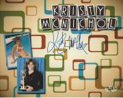 "KRISTY MCNICHOL - Well Known for Her Roles in ""LITTLE DARLINGS"" and ""ONLY WHEN I LAUGH"" (MAB) Signed 10x8  Color Photo"