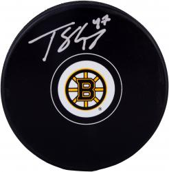 Torey Krug Boston Bruins Autographed Hockey Puck - Mounted Memories