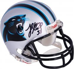 Luke Kuechly Carolina Panthers Autographed Riddell Mini Helmet - Mounted Memories