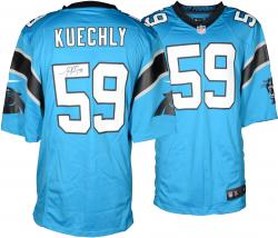 Luke Kuechly Carolina Panthers Autographed Nike Game Blue Jersey - Mounted Memories