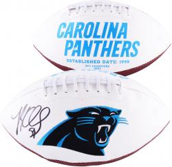 Luke Kuechly Carolina Panthers Autographed Logo Football