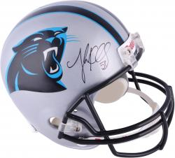 Luke Kuechly Carolina Panthers Autographed Riddell Replica Helmet - Mounted Memories