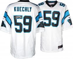 Luke Kuechly Carolina Panthers Autographed Nike Game White Jersey