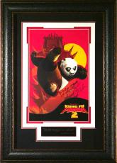 "Kung Fu Panda 2 - Jack Black ""Po"" Signed Framed Po"