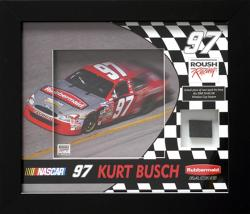 Kurt Busch Tire Shadowbox - Mounted Memories