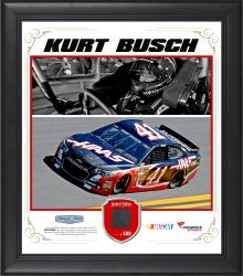 Kurt Busch Framed 15'' x 17'' Composite Collage with Race-Used Tire