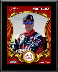 Kurt Busch Number 41 Sublimated 10.5'' x 13'' Composite Plaque