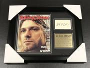 Kurt Cobain Nirvana Facsimile Autographed REPRINT Framed MAGAZINE 8x10 Photo