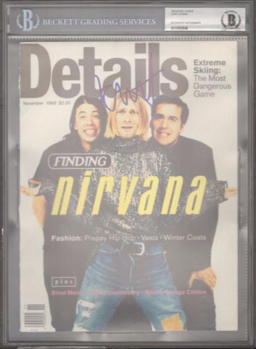 KURT COBAIN Nirvana Signed Magazine Cover JSA PSA/DNA Graded BECKETT BAS 10 Slab
