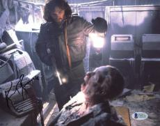 """Kurt Russell Autographed 8""""x 10"""" The Thing Dead Body Photograph - BAS COA"""