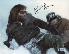 """Kurt Russell Autographed 8""""x 10"""" The Thing In Snow Photograph - BAS COA"""