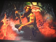 KURT RUSSELL SIGNED AUTOGRAPH 8x10 PHOTO ESCAPE FROM NEW YORK SNAKE COA AUTO D