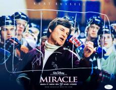 Kurt Russell Signed Miracle (Coach Herb Brooks) 11x14 Photo JSA