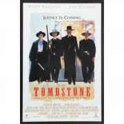 "Kurt Russell Tombstone Framed Autographed 42"" x 29"" Movie Poster - BAS"