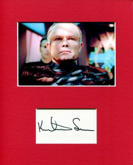 Kurtwood Smith Star Trek Voyager Annorax Rare Signed Autograph Photo Display