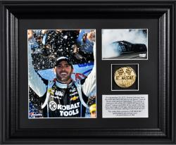 Kyle Busch 2013 Cheez-It 355 at the Glen Race Winner Framed 2-Photograph Collage with Gold-Plated Coin