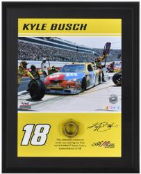 2011 Kyle Busch Lug Nut Plaque Limited Edition of 518 - Mounted Memories