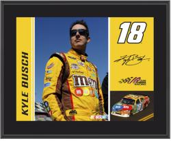 "2011 Kyle Busch Sublimated 10"" x 13"" Color Plaque - Mounted Memories"