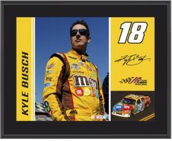 """2011 Kyle Busch Sublimated 10"""" x 13"""" Color Plaque"""