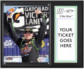 "Kyle Busch 2011 Michigan 400 Sublimated 12x15 ""I WAS THERE"" Ticket Plaque"