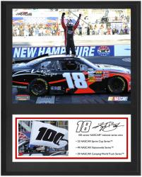 Kyle Busch NASCAR 100th Win 12'' x 15'' Plaque - Mounted Memories