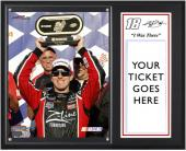 "Kyle Busch NASCAR 100th Win Sublimated 12x15 ""I WAS THERE"" Ticket Plaque - Mounted Memories"