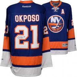 Kyle Okposo New York Islanders Autographed Blue Reebok Premier Jersey