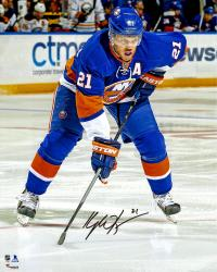 """Kyle Okposo New York Islanders Autographed Face-Off Circle 16"""" x 20"""" Photograph"""