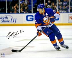 "Kyle Okposo New York Islanders Autographed Skating With Puck 16"" x 20"" Photograph"