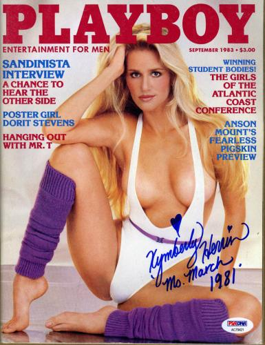 Kymberly Kym Herrin SIGNED September 1983 Playboy Magazine PSA/DNA AUTOGRAPHED