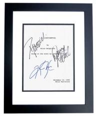 L.A. Confidential Autographed Script by Russell Crowe, Kim Basinger, and Danny DeVito BLACK CUSTOM FRAME