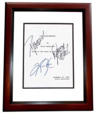 L.A. Confidential Autographed Script by Russell Crowe, Kim Basinger, and Danny DeVito MAHOGANY CUSTOM FRAME