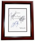 L.A. Confidential Signed - Autographed Script by Russell Crowe, Kim Basinger, and Danny DeVito MAHOGANY CUSTOM FRAME - Guaranteed to pass PSA or JSA