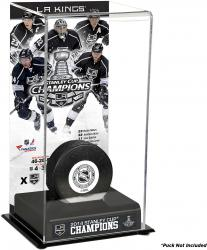 Los Angeles Kings 2014 Stanley Cup Champions Logo Deluxe Puck Display Case - Mounted Memories