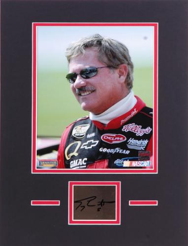 Terry Labonte Matted 8x10 Photograph with Autographed Cut Piece - Mounted Memories