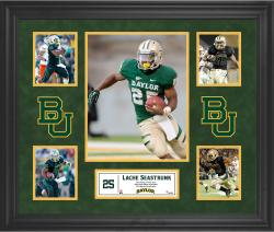 Lache Seastrunk Baylor Bears Framed 5-Photo Collage