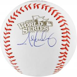 John Lackey Boston Red Sox 2013 World Series Champions Autographed 2013 World Series Logo Baseball