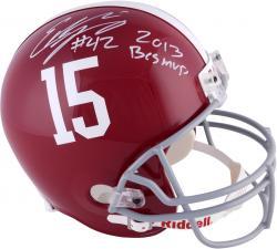 Eddie Lacy Alabama Crimson Tide Autographed Riddell Replica Helmet