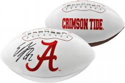 Eddie Lacy Alabama Crimson Tide Autographed White Panel Football - Mounted Memories