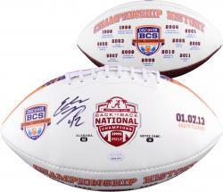 Eddie Lacy Alabama Crimson Tide Autographed Logo Football