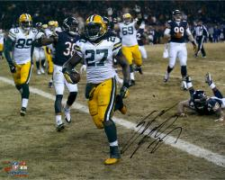 Eddie Lacy Green Bay Packers Autographed 16'' x 20'' Horizontal TD vs. Chicago Bears Photograph - Mounted Memories