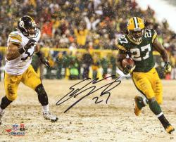 Eddie Lacy Green Bay Packers Autographed 8x10 Photo vs Steelers