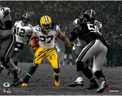 Eddie Lacy Green Bay Packers Signed 11x14 Spotlight Photo vs Bears