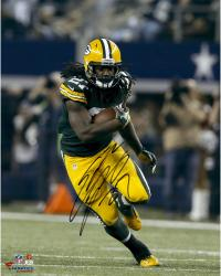 Eddie Lacy Green Bay Packers Autographed 16'' x 20'' Vertical Green Uniform Running Photograph - Mounted Memories