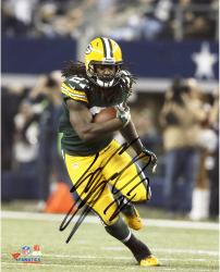 Eddie Lacy Green Bay Packers Autographed 8'' x 10'' Vertical Green Uniform Running Photograph - Mounted Memories