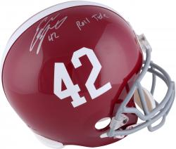 "LACY, EDDIE AUTO  ""ROLL TIDE"" (ALABAMA) REP HELMET - Mounted Memories"
